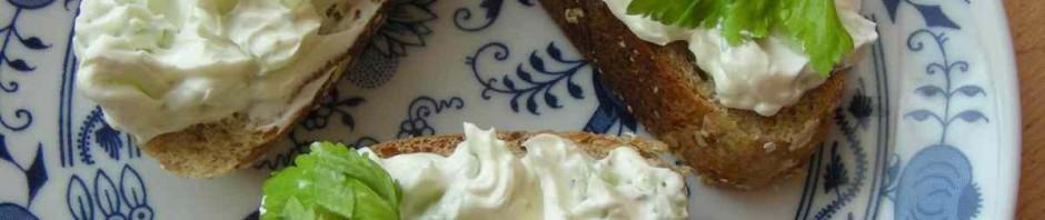 Pomazánka s řapik.celerem na plátcích veky