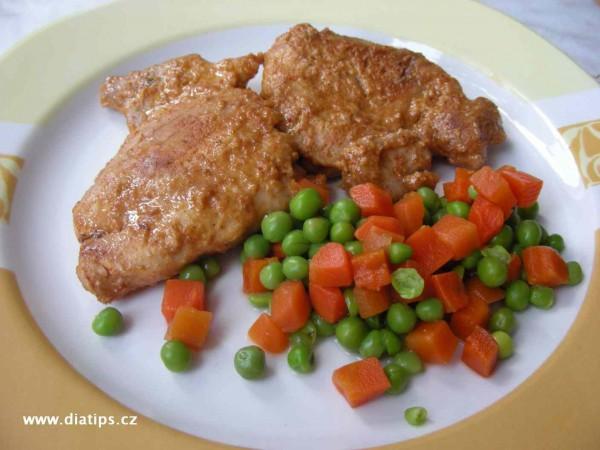 Kuřecí maso s jogurtem obložené zeleninou