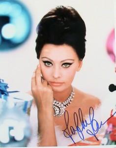 Sophia Loren vlastní foto