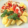 kuřecí, rajčata, ricotta