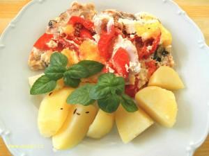 kuřecí, rajčata, cibule, ricotta
