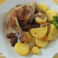 Kuře pečené na houbách