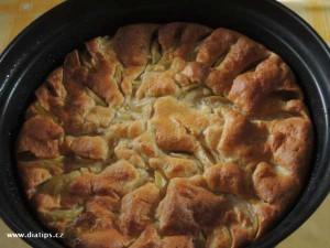 Rychlý koláč po upečení