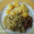 Dušená kapusta s vepřovým a bramborami