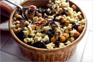 pokrm na způsob rizota uvařený z bulguru