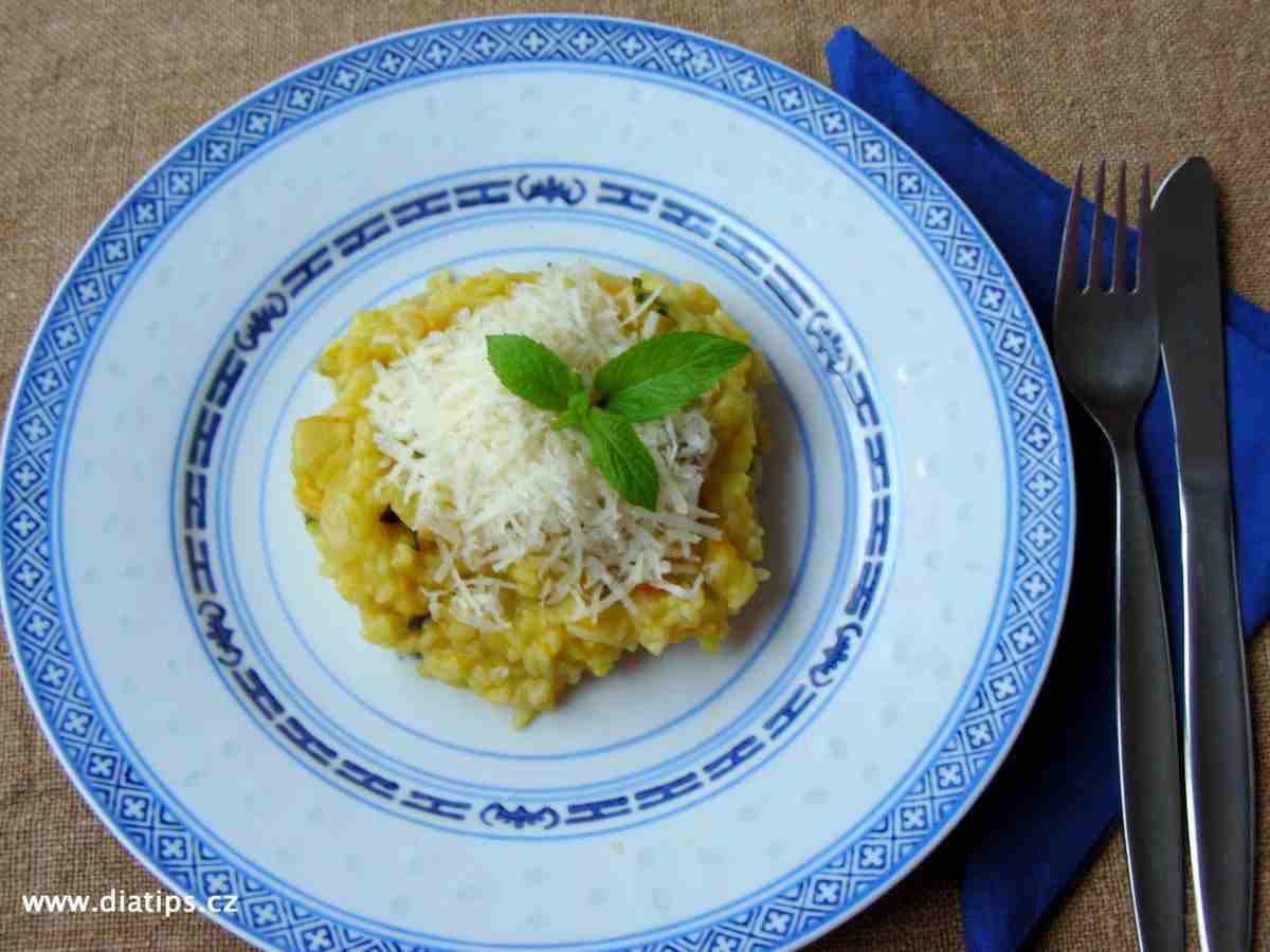 Dýňové rizoto na talíři