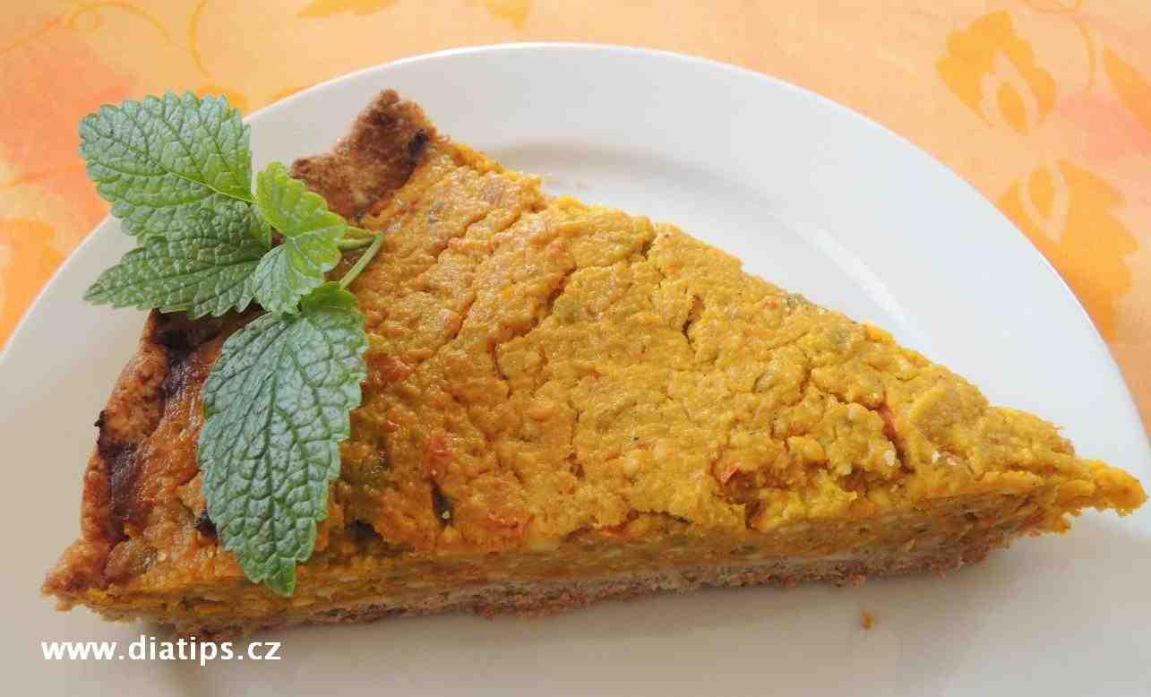 Dýňový koláč - porce na talíři
