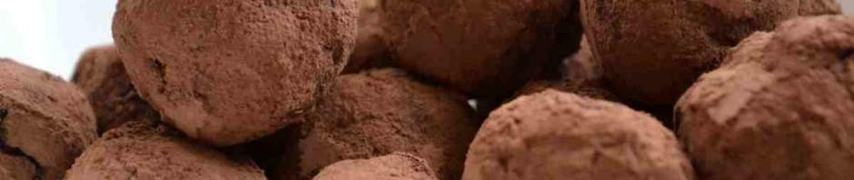 Lanýže vytvořené z kakaa a ricotty