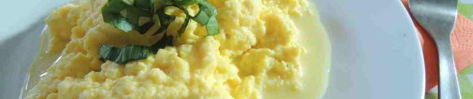 vejce smažená s ricottou
