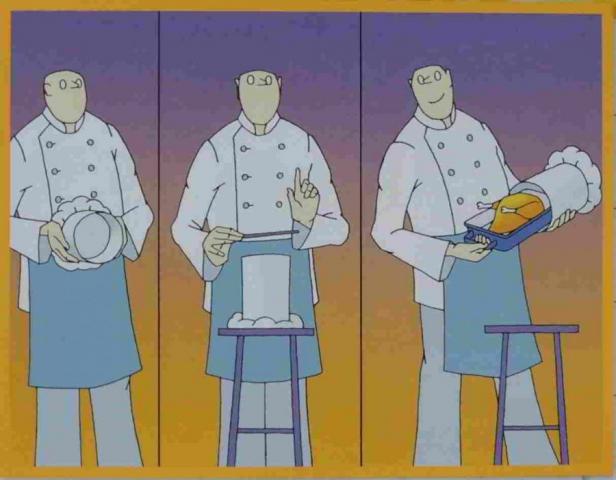 tři kuchaři jako kouzelníci vyčarují pečenou kachnu