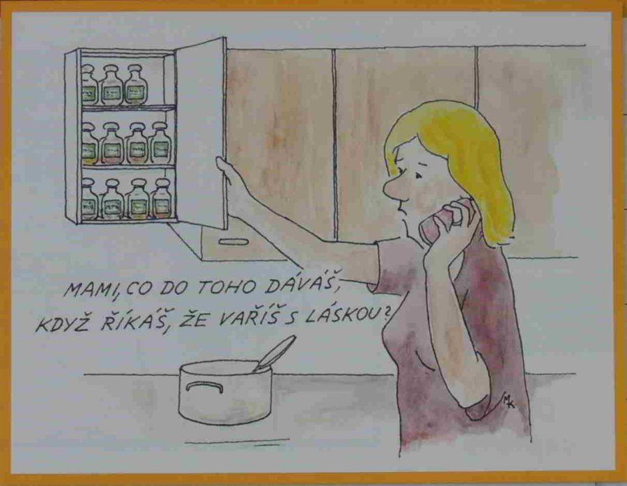 dcera se ptá matky, jak se vaří s láskou