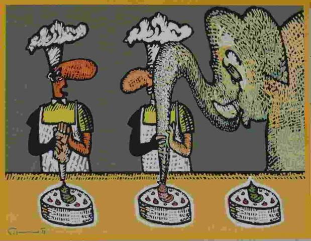 jako zdobičku na dort se dá použít sloní chobot