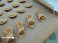 Ořechové cukroví po upečení