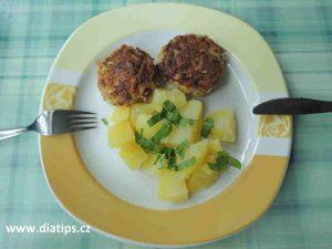 Hlivove karbanátky s bramborem