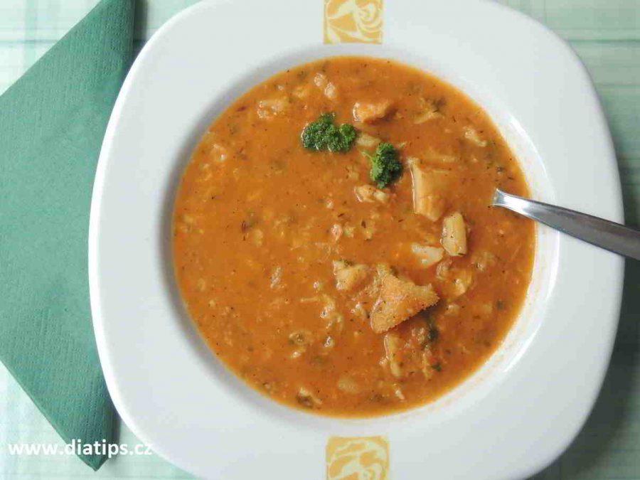 Domácí dršťková polévka na talíři