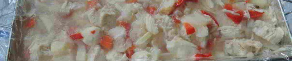 příprava aspiku z kuřcího masa