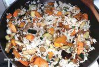 orestovaná zelenina s přídavkem vařené rýže