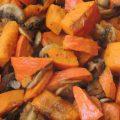 Pecená dýně houby detail