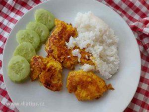 kuřecí prsa s kurkumou s rýží