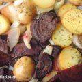 Pečené brambory s červenou řepou