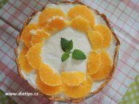 Dort s jogurtovou náplní a pomerančem